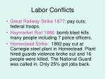 labor conflicts