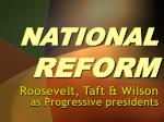 national reform