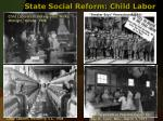 state social reform child labor