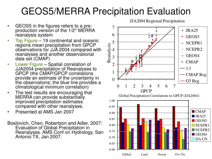 geos5 merra precipitation evaluation n.