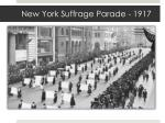 new york suffrage parade 1917
