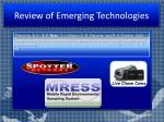 review of emerging technologies