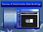 review of multimedia web briefings