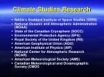 climate studies research