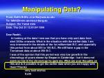 manipulating data2