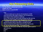 not releasing data2