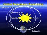 orbital parameters eccentricity