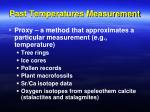 past temperatures measurement