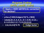 program coding briffa sep98 d pro