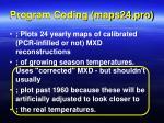 program coding maps24 pro