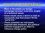 university of east anglia emails