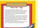 about mrs pugh