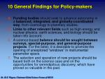 10 general findings for policy makers1