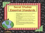 social studies essential standards