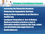 principles of our wellness programs