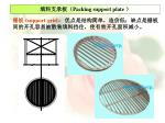 packing support plate