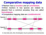 comparative mapping data