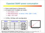 expected swap power consumption