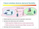 future wireless devices demand flexibility