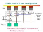 swaps provide cluster reconfiguration
