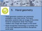 5 hand geometry