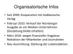 organisatorische infos