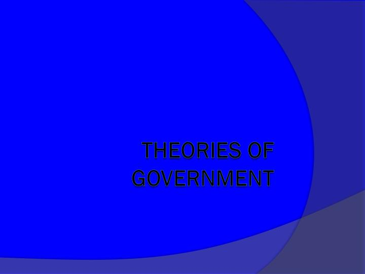 theories of government n.