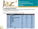 2012 achievements the management training program