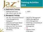 training activities 2013
