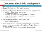 concerns about grid deployment