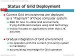 status of grid deployment