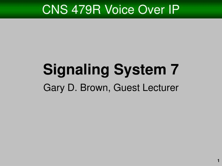 cns 479r voice over ip n.