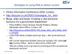 strategies for using rss to deliver content