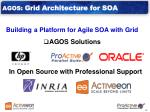 agos grid architecture for soa