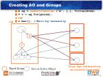 creating ao and groups