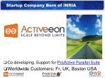 startup company born of inria
