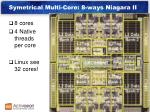 symetrical multi core 8 ways niagara ii