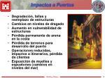 impactos a puertos