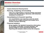 solution overview planning budgeting