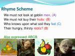 rhyme scheme1