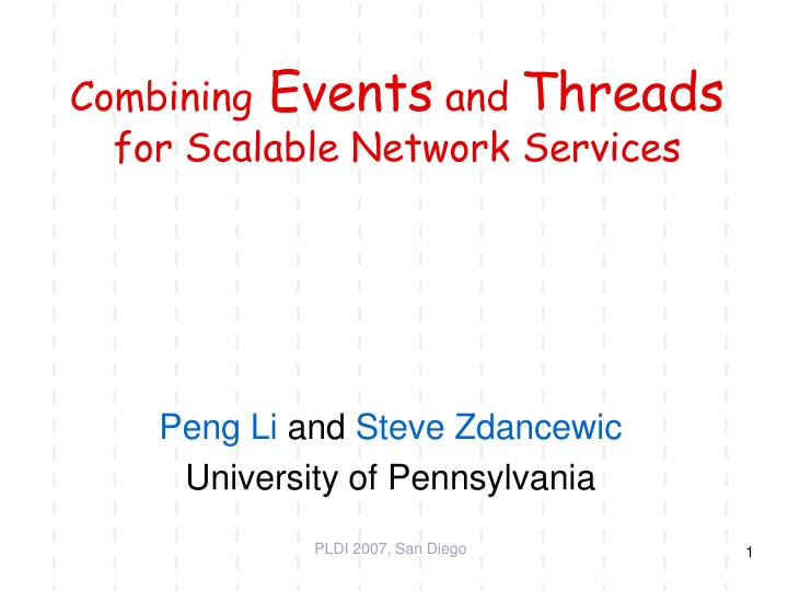 combining events and threads for scalable network services n.