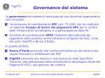 governance del sistema