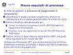 macro requisiti di processo