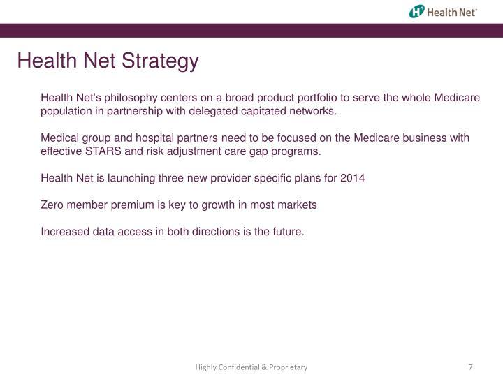 Health Net Strategy