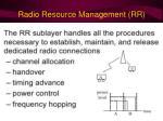 radio resource management rr