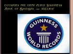 occupies the fifth place guinness book of records 100 million