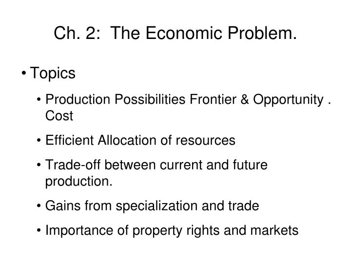 ch 2 the economic problem n.