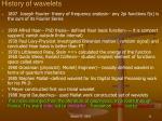 history of wavelets