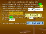 scaling function and wavelets
