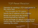 tcp reset reaction